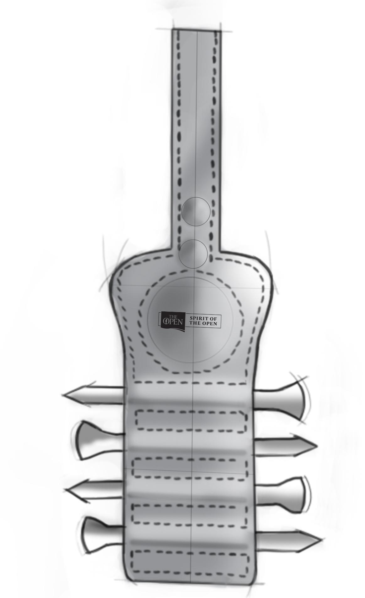 custom golf tee holder