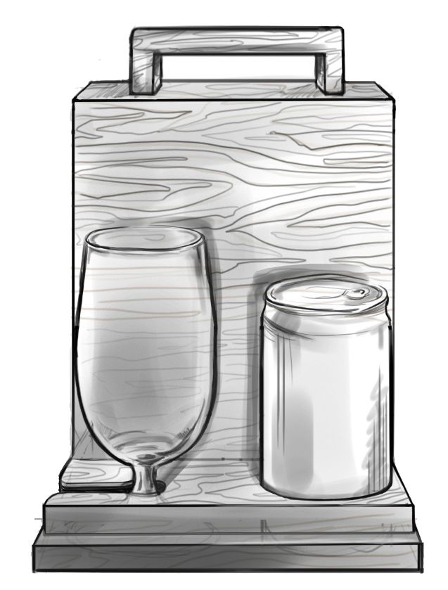 custom drinks box/holder